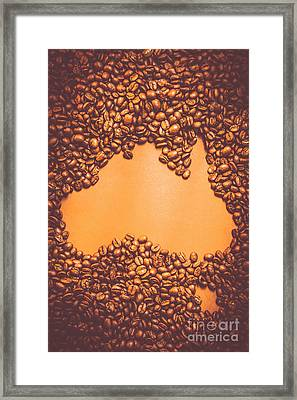 Roasted Australian Coffee Beans Background Framed Print