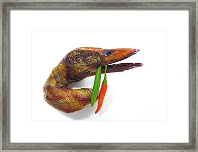 roasted Chinese duck Framed Print by Masako Metz