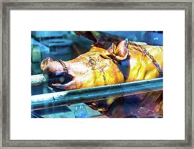 Roasted Grill Pig 3 Framed Print by Ivan Santiago