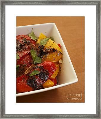 Roasted Peppers Framed Print by Edward Fielding