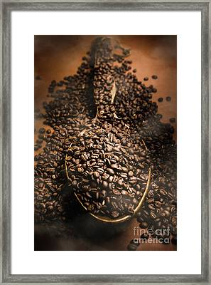 Roasting Coffee Bean Brew Framed Print