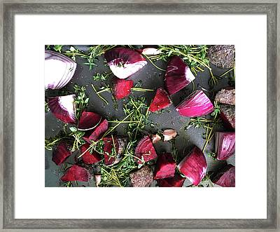 Roasting Vegetables Framed Print by Tom Gowanlock