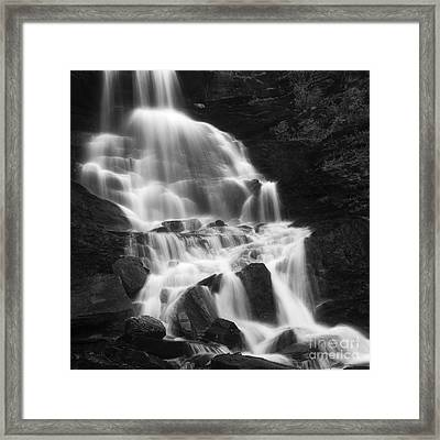 Roasto Waterfall In Nordland, Norway Framed Print by Arild Heitmann