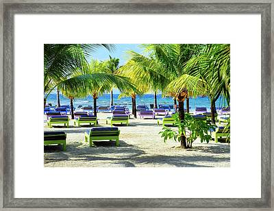Roatan Island Resort Framed Print