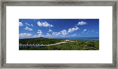 Roatan Lookout Framed Print by Ryan Heffron