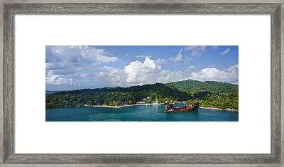 Roatan Shipwreck Framed Print by Ryan Heffron