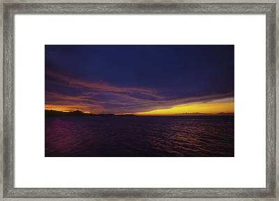 Roatan Sunset Framed Print by Stephen Anderson
