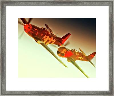 Rob Gordon Race 31 And Jc Paul Race 17 2010 Reno Air Races Framed Print