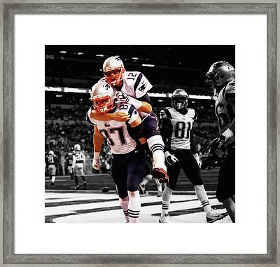 Rob Gronkowski And Tom Brady Framed Print by Brian Reaves
