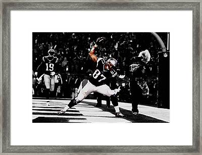 Rob Gronkowski Framed Print by Brian Reaves