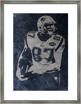 Rob Gronkowski New England Patriots Framed Print