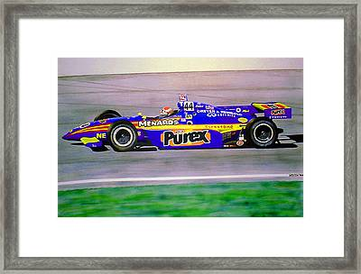 Robbie Buhl - Orlando Indy Car Winner Framed Print by James Smith