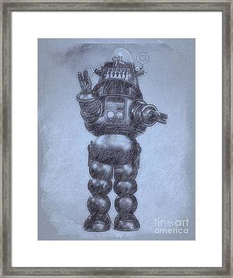 Robbie The Robot From Forbidden Planet By John Springfield Framed Print