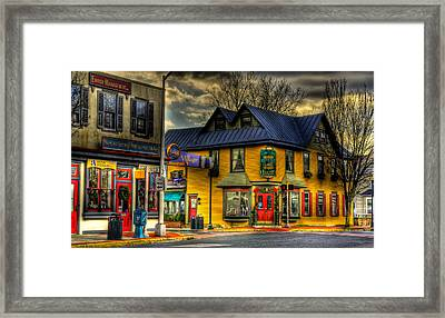 Robbins Nest Restaurant Framed Print by Louis Dallara
