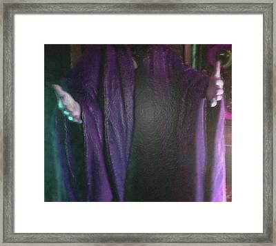 Framed Print featuring the digital art Robed Arms by Michelle Audas
