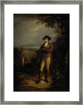 Robert Burns, 1759 - 1796. Poet Framed Print by Alexander Nasmyth