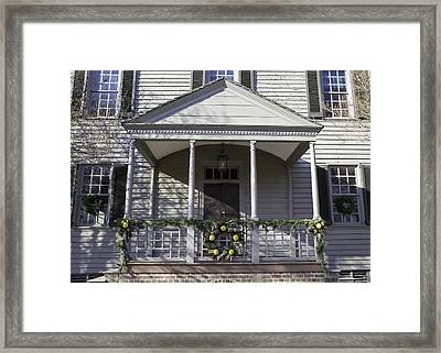 Robert Carter House Porch 01 Framed Print