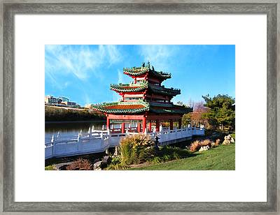 Robert D. Ray Asian Garden Framed Print by Kathy M Krause