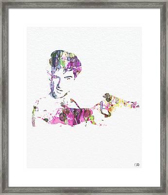 Robert De Niro Taxi Drvier Framed Print