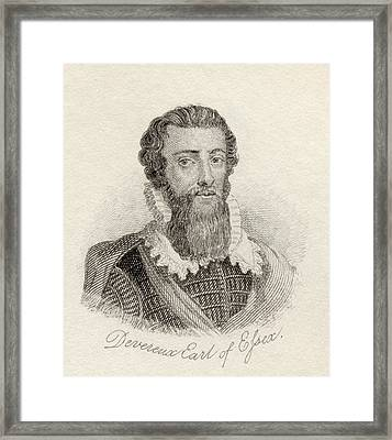 Robert Devereux, 2nd Earl Of Essex Framed Print
