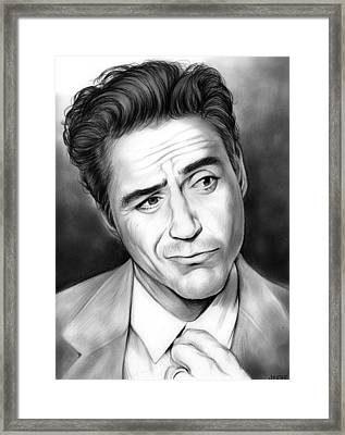 Robert Downey Jr Framed Print by Greg Joens