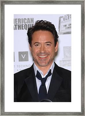 Robert Downey Jr. In Attendance Framed Print