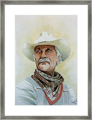 Robert Duvall As Augustus Mccrae In Lonesome Dove Framed Print