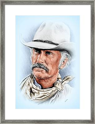 Robert Duvall As Gus Mccrae Framed Print by Andrew Read