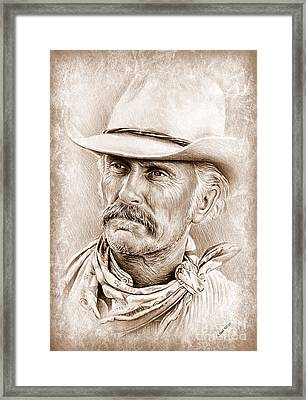 Robert Duvall  The Western Collection Framed Print by Andrew Read