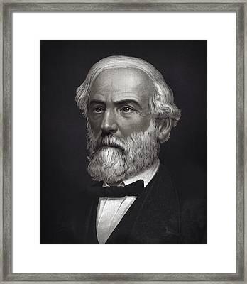 Robert E. Lee - Confederate Commander - 1870  Framed Print by Daniel Hagerman