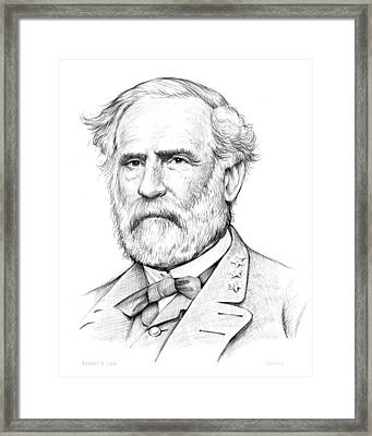 Robert E. Lee Framed Print by Greg Joens