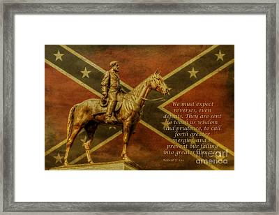 Robert E Lee Inspirational Quote Framed Print