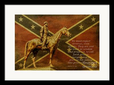 Statue Of Confederate Soldier Framed Prints