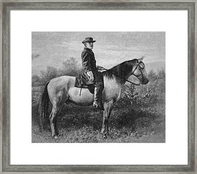 Robert E Lee On His Horse Traveler Framed Print