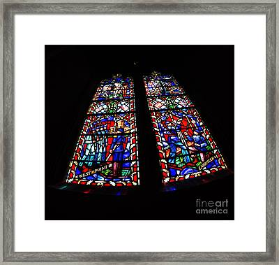 Robert E. Lee Stained Glass Framed Print