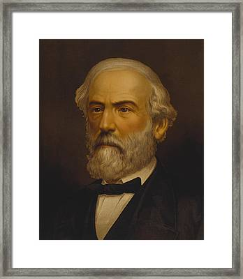 Robert E Lee Framed Print by War Is Hell Store