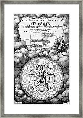 Robert Fludds Book On Metaphysics, 1617 Framed Print by Wellcome Images