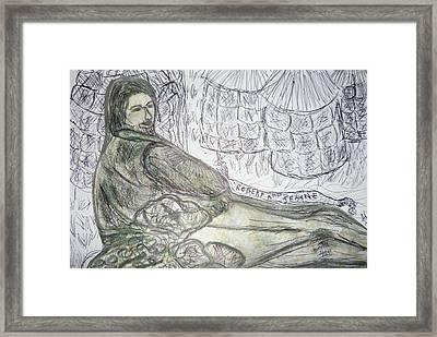 Robert From Poem Haystacks In The Flood Framed Print by Adrianne Wood
