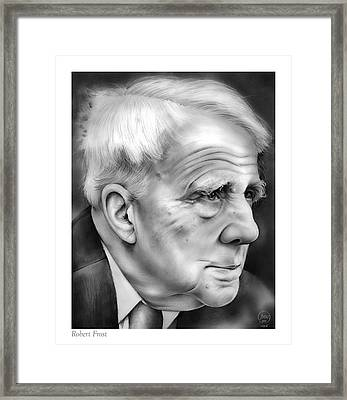 Robert Frost Framed Print by Greg Joens