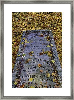 Robert Frosts Grave Framed Print