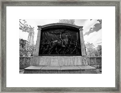 robert gould shaw monument to the 54th massachusetts volunteer infantry Boston USA Framed Print
