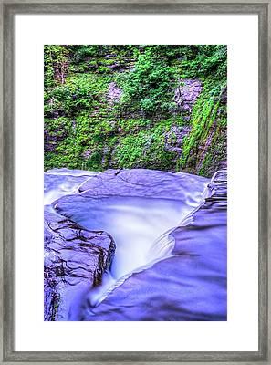 Robert H. Treman State Park Edge Ithaca Ny Framed Print
