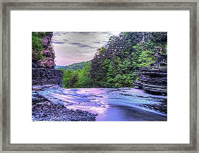 Robert H. Treman State Park Top Of The Fall Ithaca Ny Framed Print
