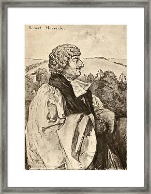 Robert Herrick, 1591-1674. Seventeenth Framed Print