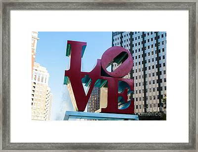 Robert Indiana Love Sculpture Framed Print