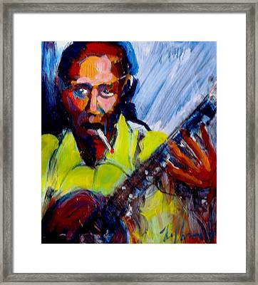 Framed Print featuring the painting Robert Johnson by Les Leffingwell