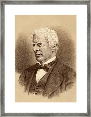 Robert Lowe, 1st. Viscount Sherbrooke Framed Print by Vintage Design Pics