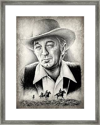 Robert Mitchum Framed Print by Andrew Read