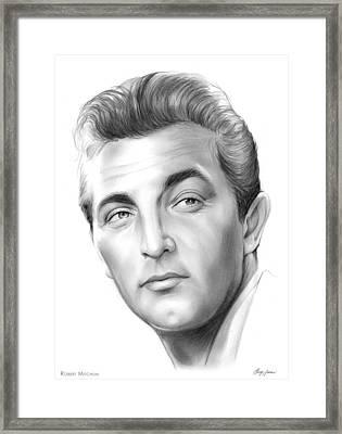 Robert Mitchum Framed Print by Greg Joens