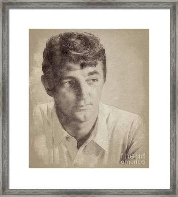 Robert Mitchum, Hollywood Legend By John Springfield Framed Print
